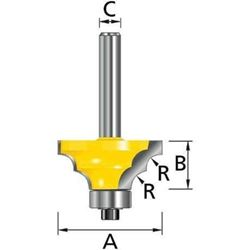Изображение Фреза кромочная для двойной круглой кромки R6.35мм Makita D-11427