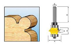 Изображение Фреза кромочная калевочная (угловая) R6.35мм Makita D-11710