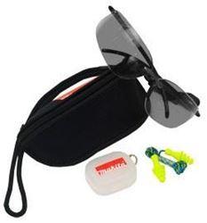 Изображение Защитные очки серые UVa+b protection EN170 + беруши, чехол Makita P-66341
