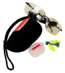 Изображение Защитные очки прозрачные UVa+b protection EN170 + беруши, чехол Makita P-66329