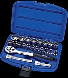 """Изображение Набор ключей 1/2"""" (8-27мм) 22пр. Quattro Grip код 10-9422-5"""