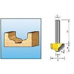 Фреза пазовая фасонная (S-образная)