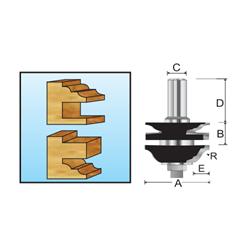 Изображение Фреза комбинированная рамочная составная (Римская S-образная) R2.38мм Makita D-11966