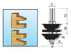 Изображение Фреза комбинированная рамочная составная (Римская S-образная) R4.76мм Makita D-11950