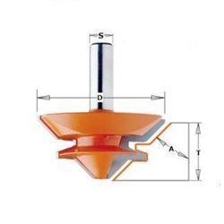 Изображение Фреза для углового сращиванияc R 45мм 50.8*22.2мм*12мм  Z2 CMT 955.504.11