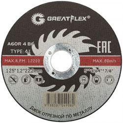 Изображение отрезной диск d125х1.2 Master T41 (сталь) GREATFLEX 50-41-003 Китай