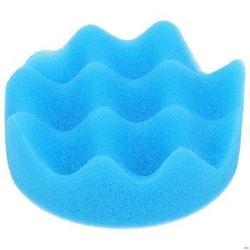 Изображение 100042 губка полировальная рифленая 125мм самозацеп (синяя, обработка целлюлозы и акрила) GF125N3
